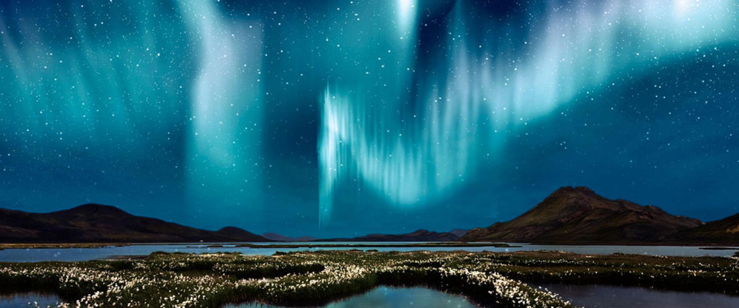 NORDLYSET PÅ ISLAND © Din Islandsreise