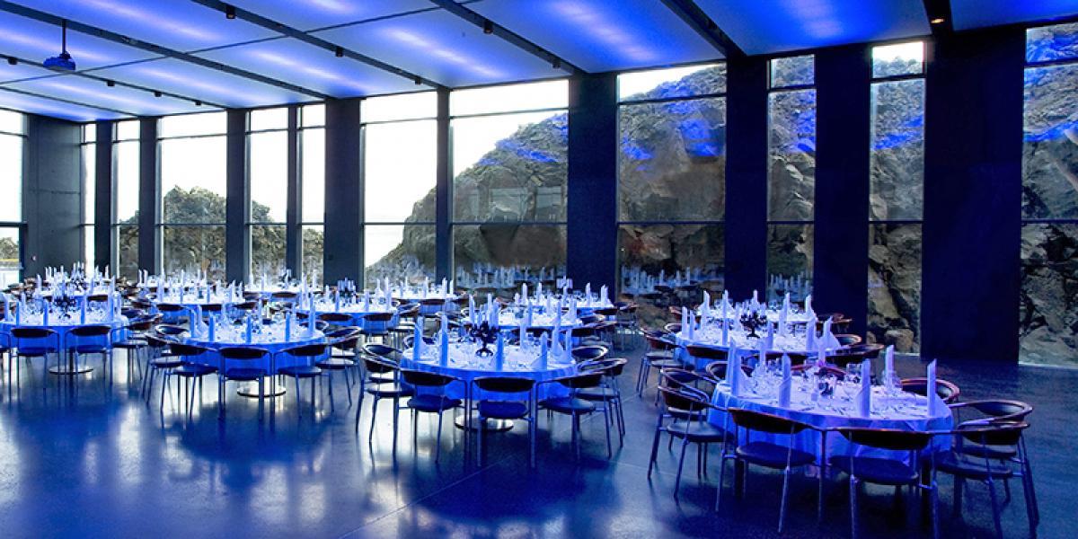 KONFERANSE PÅ ISLAND_Konferanse i Den Blå Lagune på Island_Flotte middager på konferansen i Den Blå Lagune på Island © Din Islandsreise